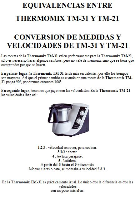 CONVERSION TM 21-TM31