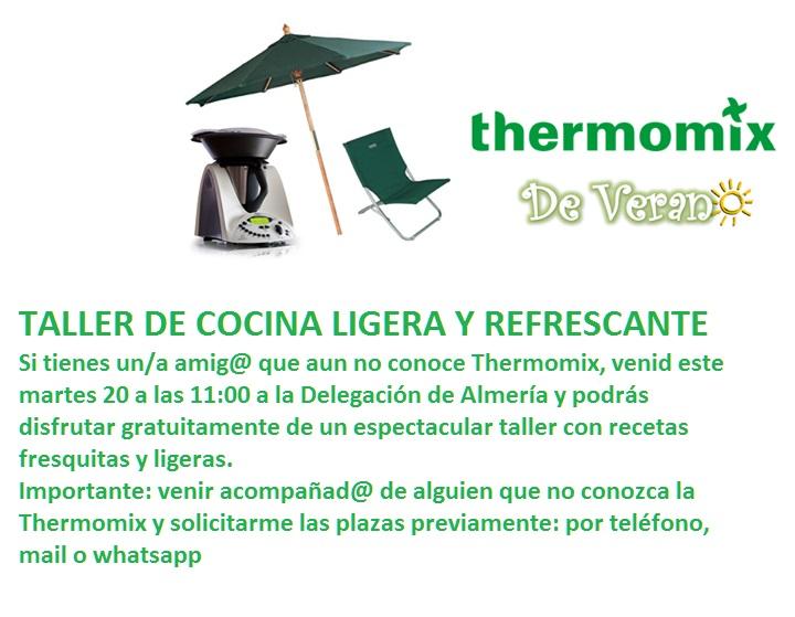 Taller gratuito de cocina ligera y refrescante en Thermomix® Almeria