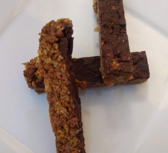 BARRITAS DE AVENA CON CHOCOLATE