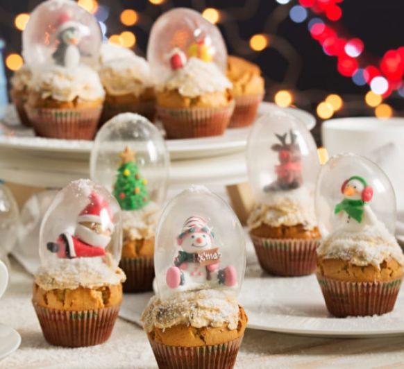 Cupcake Hola de nieve